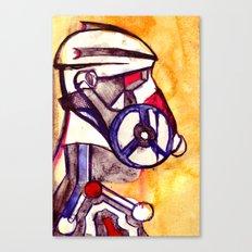 Gas Masked Soldier V2 Canvas Print