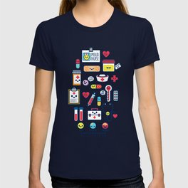 Proud To Be a Nurse Pattern / Blue T-shirt
