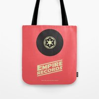 records Tote Bags featuring Empire Records by mattranzetta