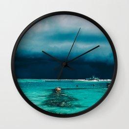 Maldivian storm Wall Clock