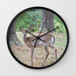 Doe In The Woods Wall Clock