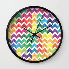 Watercolor Chevron Pattern IV Wall Clock