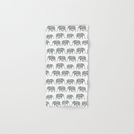 Elephant nature safari tropical painting watercolor nature pattern  Hand & Bath Towel