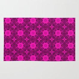 Shocking Pink Floral Rug