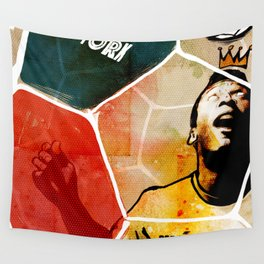 The New York Cosmos' Pelé (King of Soccer) Wall Tapestry