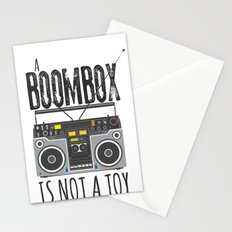 A Boombox is not a toy Stationery Cards
