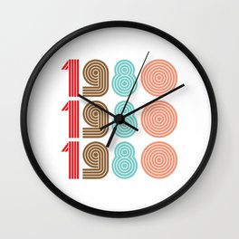 1980 / Retro Style 80s  Wall Clock