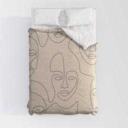 Beauty Portraits In Beige Comforters