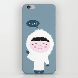 Cute little Eskimo iPhone Skin