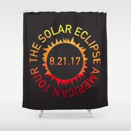 The Solar Eclipse American Tour Shower Curtain