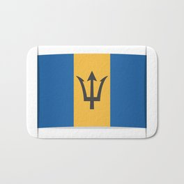 Flag of Barbados. The slit in the paper with shadows. Bath Mat