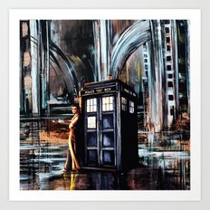 Doctor Who Art Painting Art Print