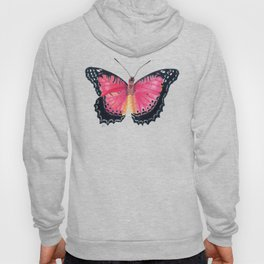 Red Lacewing Butterfly Hoody