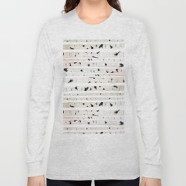 birch watercolor pattern 2018 Long Sleeve T-shirt