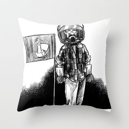 one small step for a squirrel, one giant leap for frank... Throw Pillow