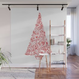 Christmas tree in New Zealand Wall Mural