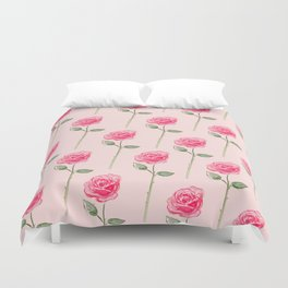 Fresh Cut Roses Duvet Cover