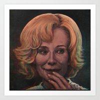 jessica lange Art Prints featuring Jessica Lange by zinakorotkova