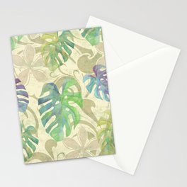 Hawaiian Tropical Leaf Design Stationery Cards