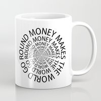 scarface Mugs featuring Money World by Text Guy