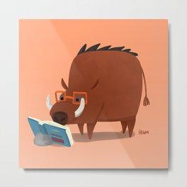 Warthog and his Good Book Metal Print