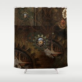 Noble steampunk design Shower Curtain