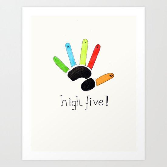 High Five! Art Print