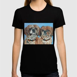 Shih Tzu Buddies Dog Portrait T-shirt