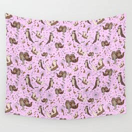 Cute Otters :) Wall Tapestry