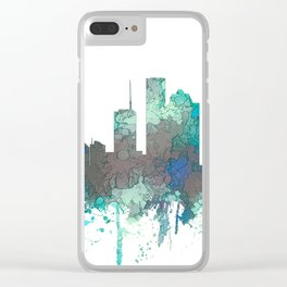 Houston, Texas Skyline - SG Jungle Clear iPhone Case
