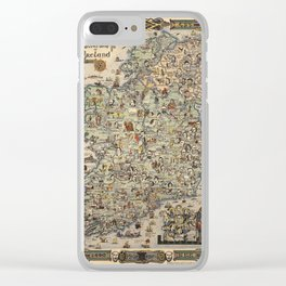 Map of Ireland Clear iPhone Case
