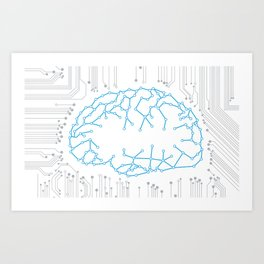 Brain Circuitry Art Print