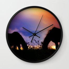 Wild West Romance Wall Clock