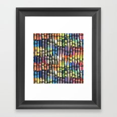 neverending box of crayons Framed Art Print