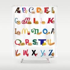 Fast Food Alphabet Shower Curtain