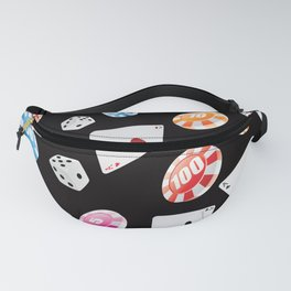 #casino #games #accessories #pattern 2 Fanny Pack