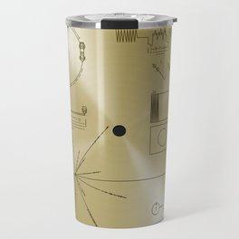 NASA space plaque: Voyager Golden Record (1977) Travel Mug
