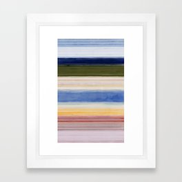 Colorbands Yellowstone Light Pink Framed Art Print