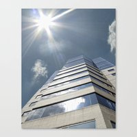 jewish Canvas Prints featuring Jewish Hospital  by Amber Flowers of Soul Gaze Photography