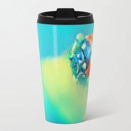 Ladybug in Aqua Mood Travel Mug