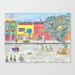 Happy Town V Canvas Print