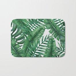Palm Leaf Tropical Pattern Bath Mat