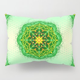 Mandala Zen Greenery Seamless Pattern Design Pillow Sham