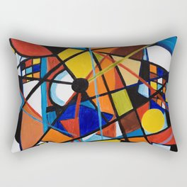 Lines and Circles Rectangular Pillow