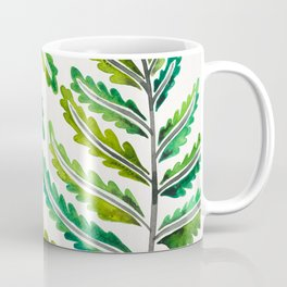 Fern Leaf – Green Palette Coffee Mug