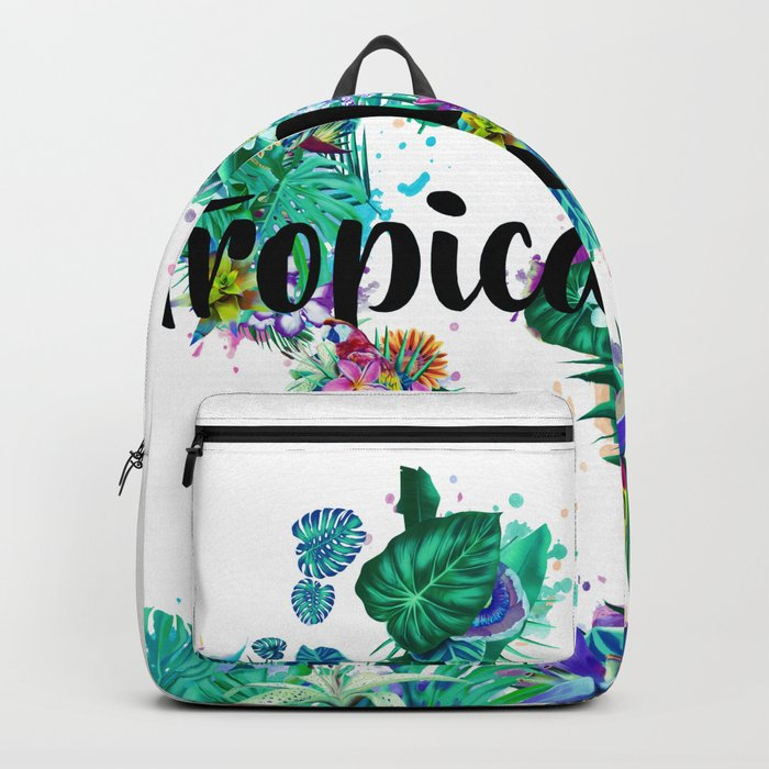 d8e743907 world map tropical vibes #world map #tropical Backpack by bekimart ...