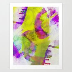 Grunge Abstract Watercolour 3 Art Print