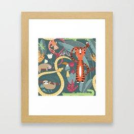 Rain forest animals 003 Framed Art Print