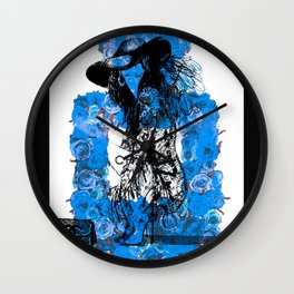 Foral Fashion Blue Wall Clock