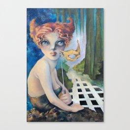 The Masquerade, Lucia Canvas Print